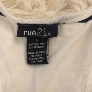 Rue21 Tops - Navy blue and white tank top
